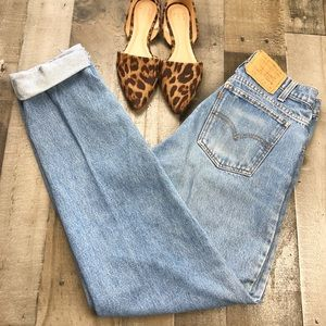 High Waist Levi's 550 Mens Jeans Boyfriend 157